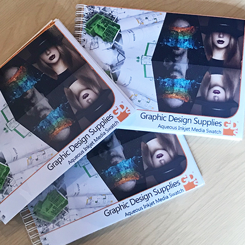 GDS Printed Sample Book - Test Pack - Complete Printed Paper and Canvas Swatch Book - A5 - GDS-SwatchA5