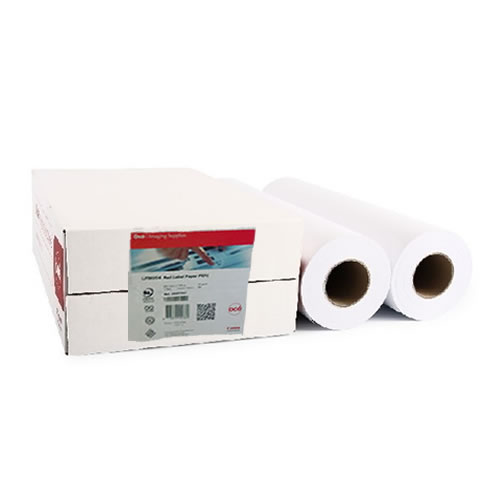 "Canon TM-200 Printer Paper Rolls | LFM054 Red Label Uncoated Paper | 75gsm | 23.39"" inch 
