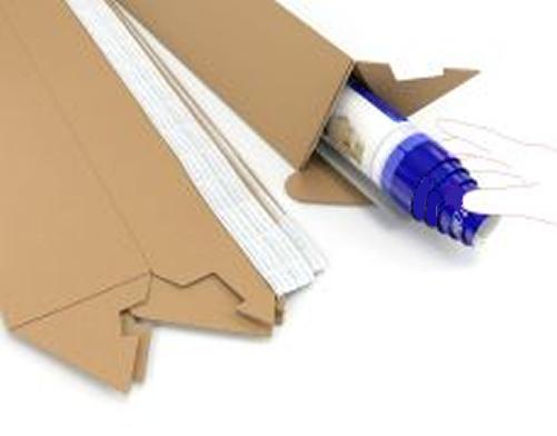 GDS Triangular Postal Tubes | 100mm x 60mm | 300mm Length | 25 Pack | GDS-TPT300
