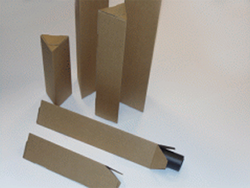 GDS Triangular Postal Tubes | 155mm x 90mm | 1100mm Length | 25 Pack | GDS-TPT91100