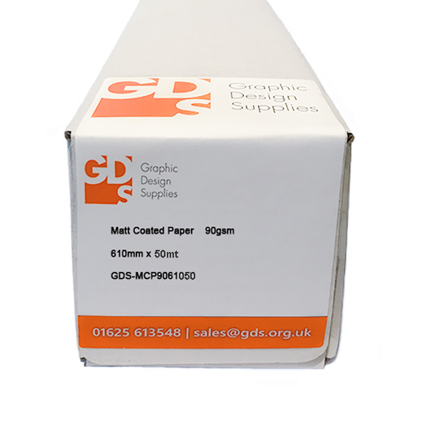 "Canon iPF605 Printer Paper | Matt Coated Paper Roll | 90gsm | 24"" inch 