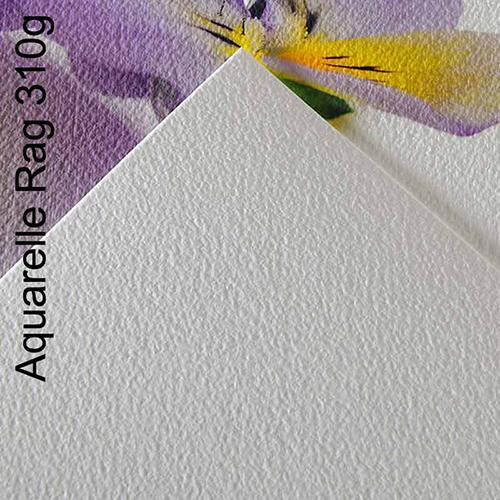 Canson Infinity Aquarelle Rag 310 Fine Art Matt Textured Paper Sheets - 310gsm - A3 x 25 sheets - C6121017