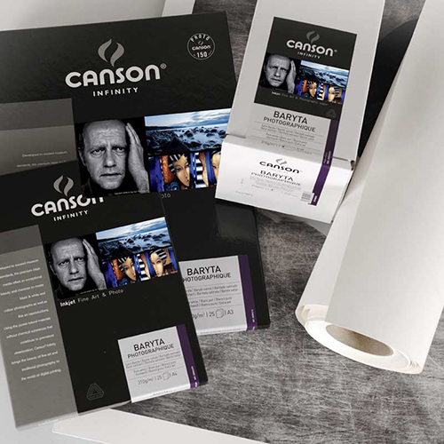 """Canson Infinity Baryta Photographique 310 Extra Smooth Satin Paper Roll - 310gsm - 17"""" inch - 432mm x 15.2mt - C00002292"""