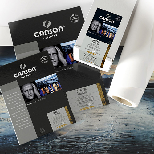 "Canson Infinity Baryta Prestige 340 Extra Smooth Gloss Paper Roll - 340gsm - 44"" inch - 1118mm x 15.2mt - C0083958"
