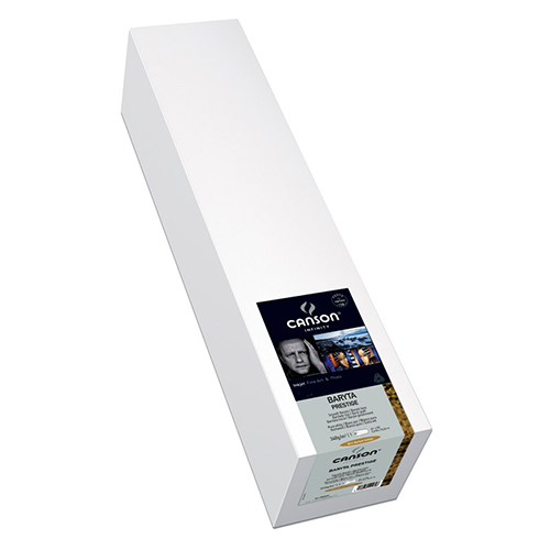 "Canson Infinity Baryta Prestige 340 Extra Smooth Gloss Paper Roll - 340gsm - 17"" inch - 432mm x 15.2mt - C0083936"