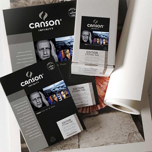 "Canson Infinity Edition Etching Rag 310 Fine Art Matt Textured Paper Roll - 310gsm - 44"" inch - 1118mm x 15.2mt - C6212004"