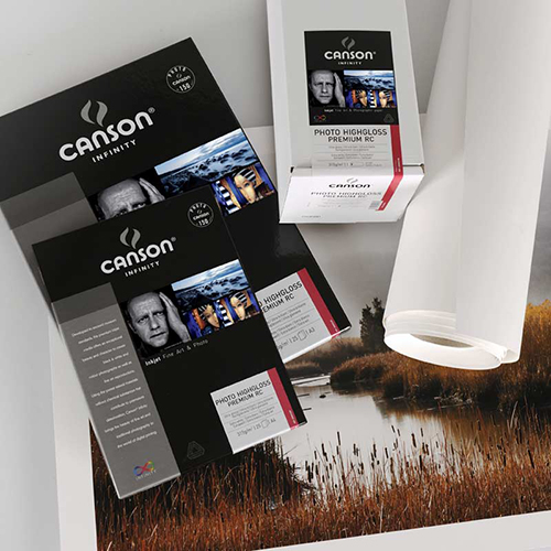 Canson Infinity Photo HighGloss Premium RC 315 Extra Smooth Gloss Paper Sheets - 315gsm - A4 x 10 sheets - C0002291