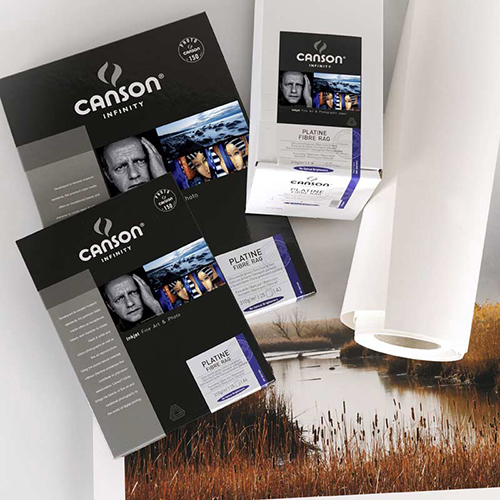 "Canson Infinity Platine Fibre Rag 310 Smooth Satin Paper Roll - 310gsm - 44"" inch - 1118mm x 15.2mt - C6212014"