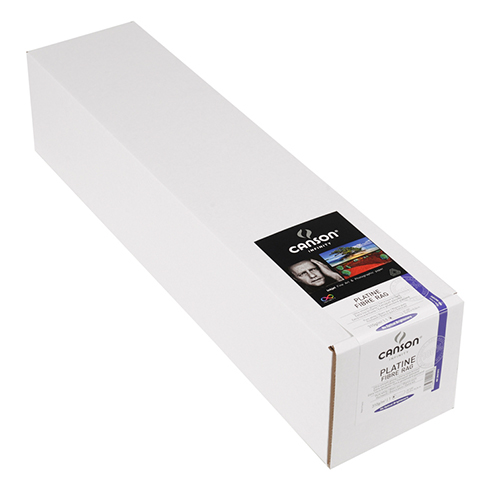 "Canson Infinity Platine Fibre Rag 310 Smooth Satin Paper Roll - 310gsm - 17"" inch - 432mm x 15.2mt - C6212010"