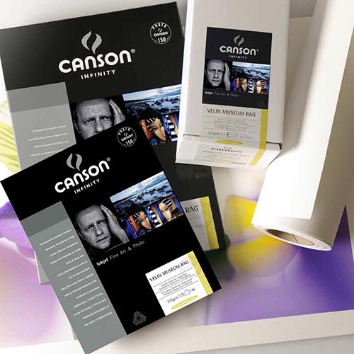 Canson Infinity Velin Museum Rag 315 Fine Art Matt Textured Paper Sheets - 315gsm - A3 x 25 sheets - C6111019