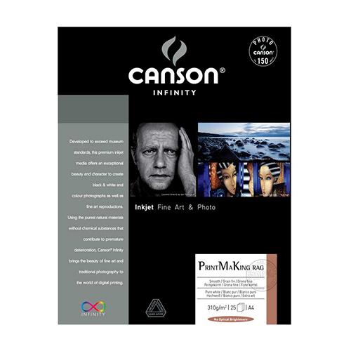 Canson Infinity PrintMaKing Rag 310 Fine Art Matt Textured Paper Sheets - 310gsm - A4 x 25 sheets - C6111006