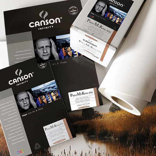 "Canson Infinity PrintMaKing Rag 310 Fine Art Matt Textured Paper Sheets - 310gsm - 24"" x 36"" sheets - C6111010"