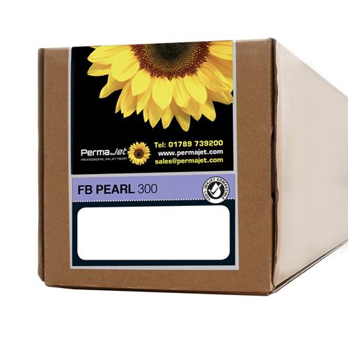 "PermaJet FB Pearl 300 Paper Sheets - 300gsm - 17"" inch - 432mm x 15mt - APJ63158"