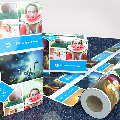 "HP Satin Gift Wrap | for printing customised wrapping paper | Satin Finish inkjet roll for digitally printing gift wrap | 100gsm | 36"" inch 