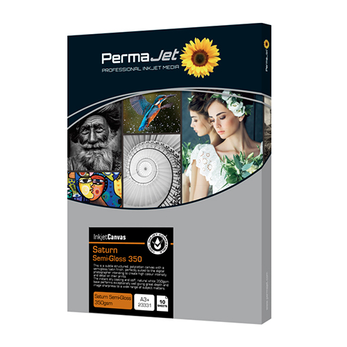 PermaJet Saturn Semi-Gloss Canvas 350 Sheets - 350gsm - A3+ x 10 sheets - APJ23331