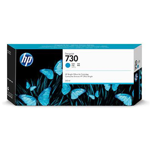 HP 730 Ink Cartridge - Cyan - 300ml - for HP DesignJet T1700 Printers - P2V68A