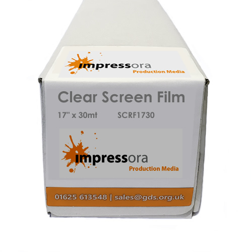 Impressora Clear Screen Film for printing Screen Print Positives | 4 mil | 432mm x 30mt | SCRF1730