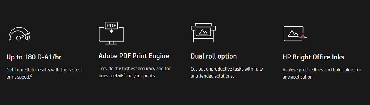 HP DesignJet T1600 & T2600 Features