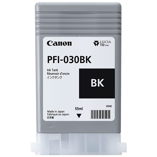 Canon PFI-030BK Black Ink Tank | 55ml Cartridge | for Canon TA-20 & TA-30 Printers | 3489C001AA