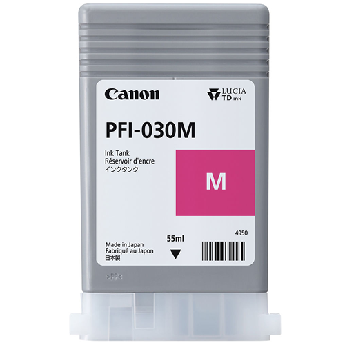 Canon PFI-030M Magenta Ink Tank | 55ml Cartridge | for Canon TA-20 & TA-30 Printers | 3491C001AA