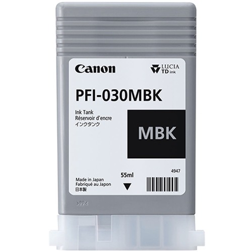 Canon PFI-030MBK Matte Black Ink Tank - 55ml Cartridge - for Canon TA-20 & TA-30 Printers - 3488C001AA