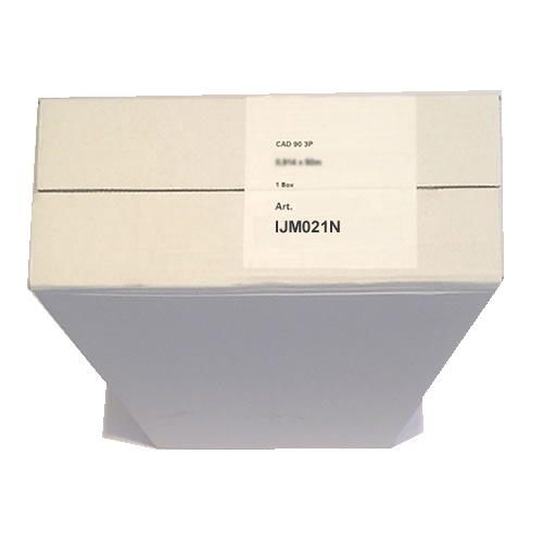IJM021N Neutral Label Standard Paper Rolls 90gsm 24 inch A1 610mm x 50mt 3 Pack 97003428