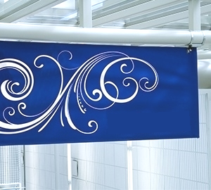 Scrim Vinyl Banner - suggested usage