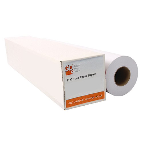 GDS PPC Plain Paper Plan Printer Roll | 80gsm | 33.1"
