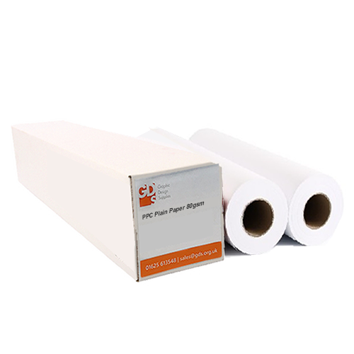 GDS PPC Plain Paper Plan Printer Roll | 80gsm | 16.54"