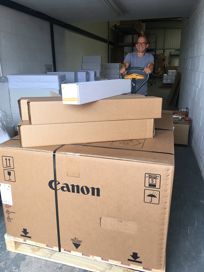 Another Canon printer order leaves the GDS warehouse