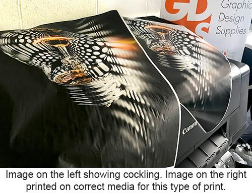 Cockling on prints
