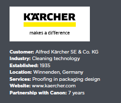 Karcher choose the clarity of Canon printing