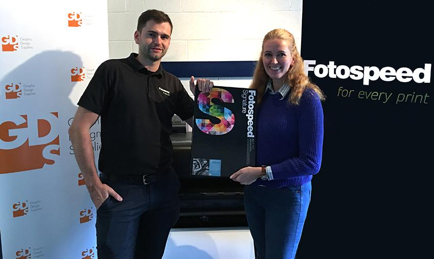 Fotospeed's Vince Cater with Tammy Tidmarsh