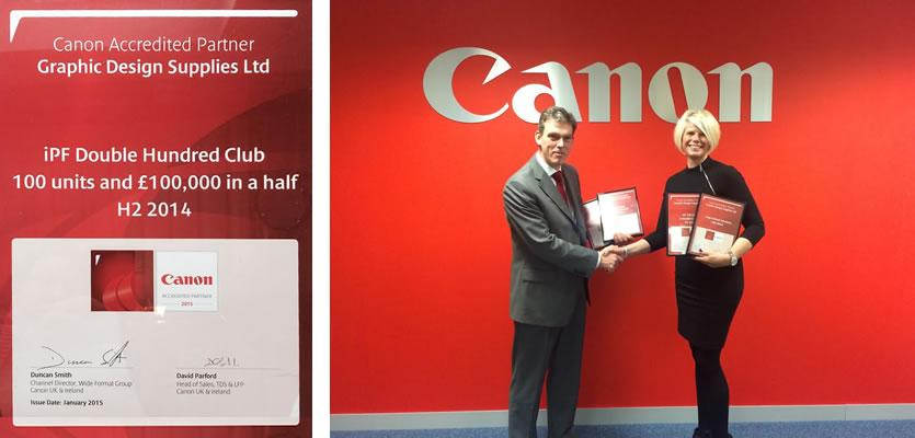 Graphic Design Supplies scoop 4 Canon achievement awards