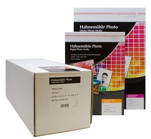 Hahnemuhle photo paper sheets and rolls