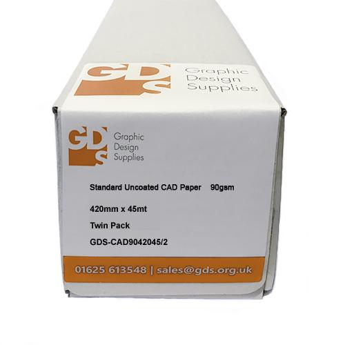 GDS Standard Paper Roll 90gsm 420mm x 45mt 2 Pack