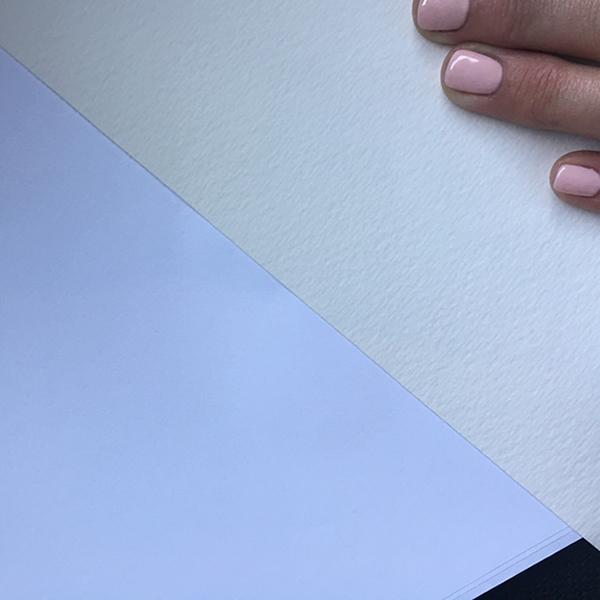 GDS Fine Art Textured - Colour comparison against basic white office copier paper