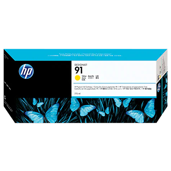 HP 91 Ink Cartridge - 775ml Ink Tank - Yellow - for Z6100 Printers - C9469A