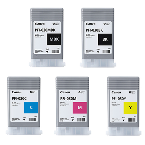 Canon PFI-030 Inks - set of 5 for the Canon TA-20 and Canon TA-30 Printers